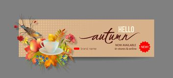 Autumn Advertising Banner Images libres de droits