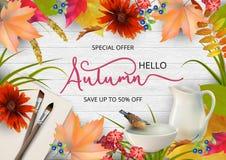 Autumn Advertising Banner illustration stock