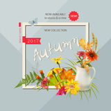 Autumn Advertising Banner Photo libre de droits
