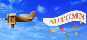 Autumn Advertising Banner Stock Image