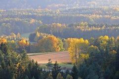 Autumn aerial landscape Stock Photography