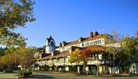Lake Arrowhead center. Autumn aesthetic at the shops in Lake Arrowhead California Stock Photo