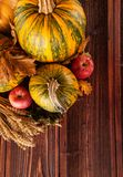 Autumn agriculture products on wood Stock Image