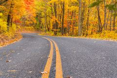 Autumn along the Blue Ridge Parkway stock images