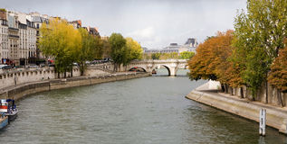 Autumn along the Seine River Stock Photos