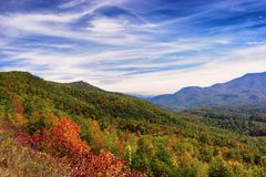 Autumn Along Tennessee Foot Hills Parkway Royalty Free Stock Images