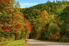 Autumn Along Tennessee Foothills Parkway Royalty Free Stock Image