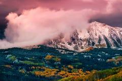 Autumn Alpenglow Fotos de archivo libres de regalías