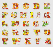 Autumn alphabet Royalty Free Stock Photos
