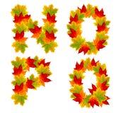 Autumn alphabet Royalty Free Stock Photos