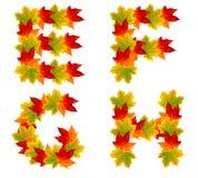 Autumn alphabet Stock Photo
