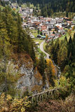 Autumn alpine landscape in the Dolomites Royalty Free Stock Images