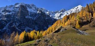 Autumn Alpine-landschappen Royalty-vrije Stock Foto
