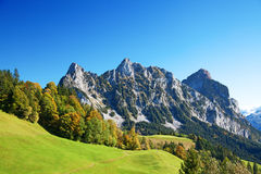 Autumn in alps Stock Photo