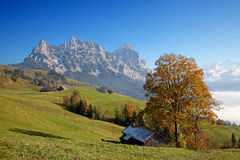 Autumn in alps Stock Photo