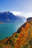 Autumn in alps Stock Photography