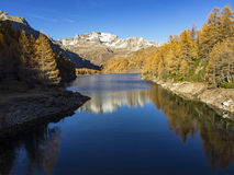 Autumn in the alps Stock Photography