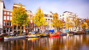 Autumn in Amsterdam, The Netherlands Royalty Free Stock Photos