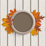 Autumn Angebot Ring Foliage Wood Stock Photos