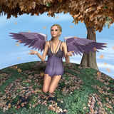 Autumn Angel Royalty-vrije Stock Fotografie