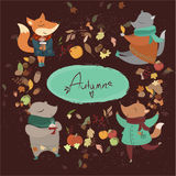 Autumn Animals Royaltyfri Foto