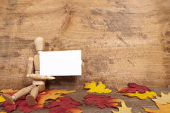 Autumn Announcement Royalty Free Stock Images