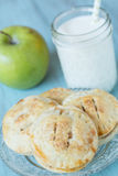 Autumn Apple Hand Pies With Milk Close Up Royalty Free Stock Photos
