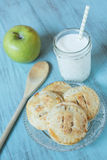 Autumn Apple Hand Pies With Milk Stock Images