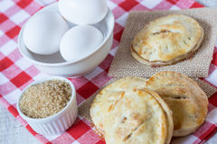 Autumn Apple Hand Pies with Raw Sugar and Eggs Stock Photography