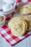 Autumn Apple Hand Pies with Raw Sugar and Eggs Vertical Stock Photos