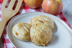 Autumn Apple Hand Pies on Red Napkin Royalty Free Stock Photo