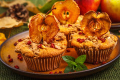 Autumn apple muffins Royalty Free Stock Image