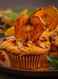 Autumn apple muffins Stock Images