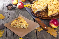 Autumn apple pie Royalty Free Stock Photo