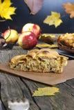 Autumn apple pie Stock Photos