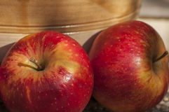 Autumn apples. Autumn or fall is one of the four temperate seasons Stock Images