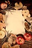 Autumn apples still life Stock Images