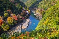 Autumn at Arashiyama view point Royalty Free Stock Photos