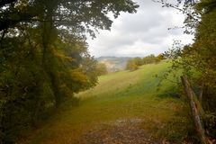 View of the autumn nature of Umbria in Italy . Stock Images