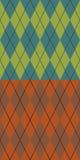 Autumn argyle. Two fashionable colored seamless argyle patterns Stock Photos