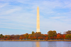 Autumn around Tidal Basin and Washington National Monument. Stock Images