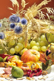 Autumn arrangement with fruits and vegetables Stock Photo