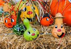 Fun fall pumpkins Royalty Free Stock Photo