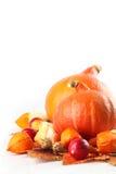 Autumn arrangement with Hokkaido pumpkins Stock Photo