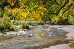 Autumn at Arrow town canel Royalty Free Stock Photos