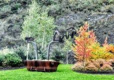 Autumn art on mountain Stock Photos