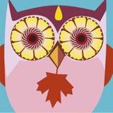 Autumn art portrait of a comic owl Stock Photo