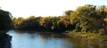 Autumn on the Assiniboine River Royalty Free Stock Image