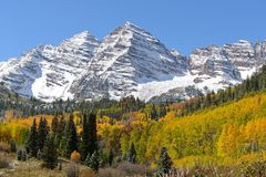 Autumn At Maroon Bells Royalty Free Stock Photography