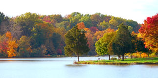 Autumn At The Park Royalty Free Stock Photos